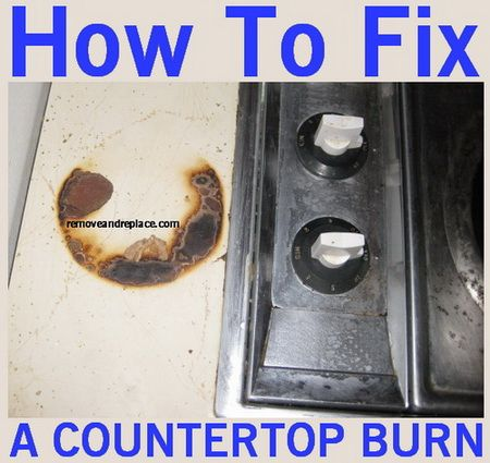 How To Fix And Remove Laminate Countertop Burns And Scratches