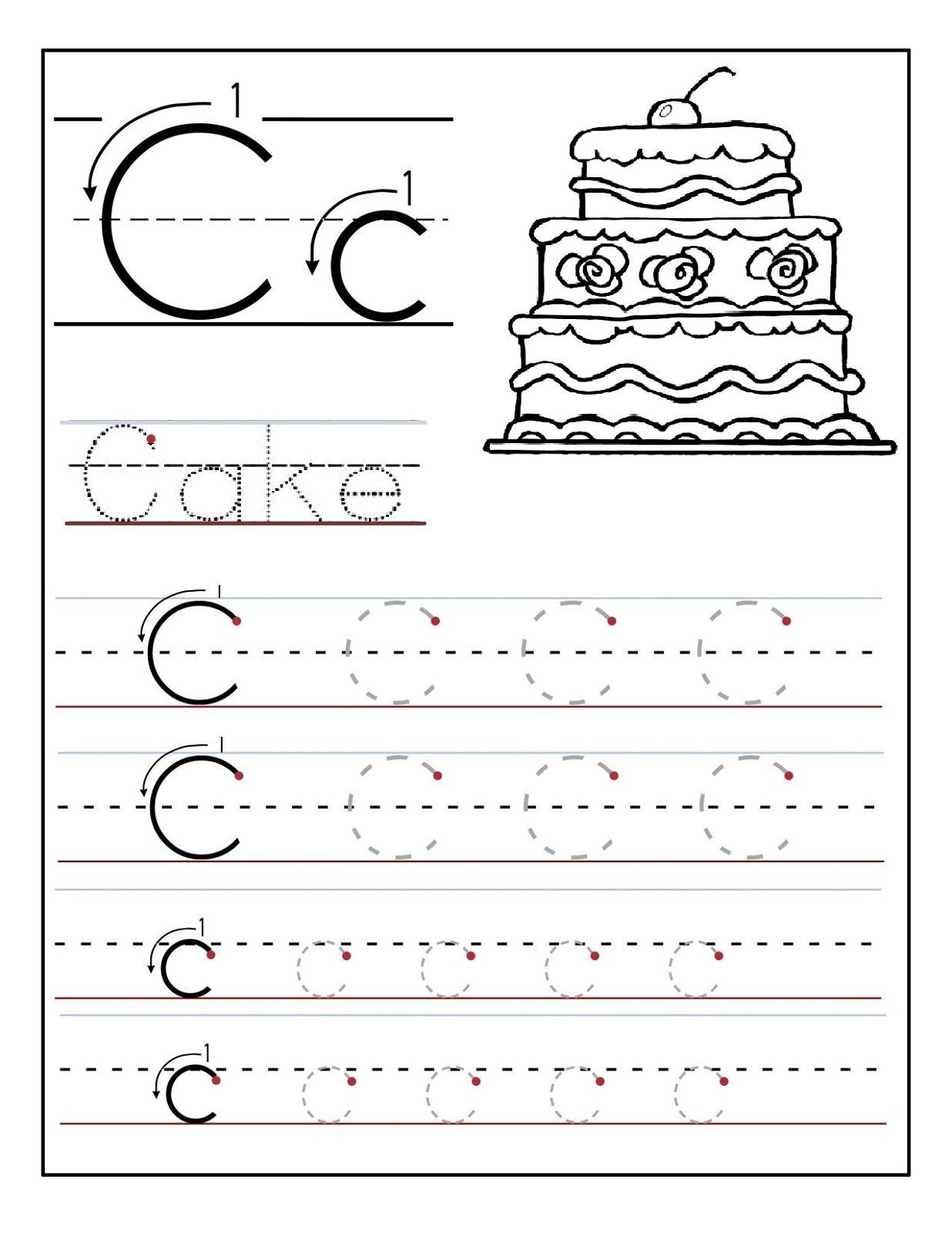 Free Letter C Worksheets Pictures