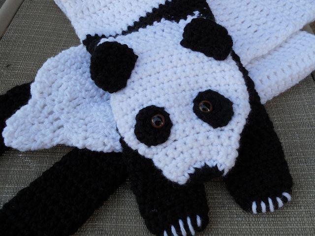 Crochet Panda Scarf