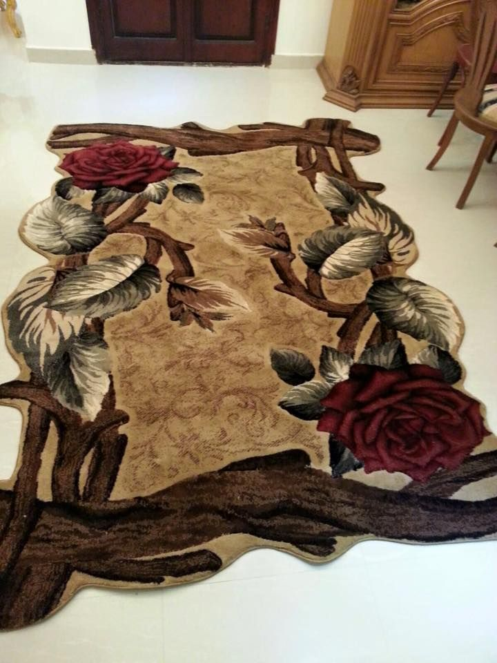 سجاد مودرن باشكال جميلة Creative Wall Art Floral Rug Floor Cloth