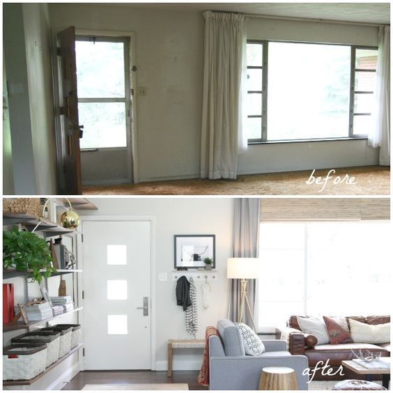 optimized living room design   Optimized Entryway in Living Room   HOUSE*TWEAKING - THESE ...