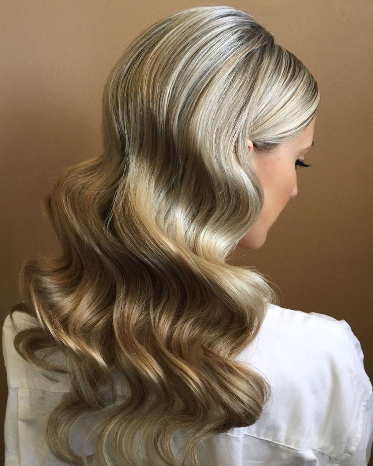 33 Frisuren Mi Wellen Und Locken Hollywood Haare Haare Hochzeit Frisur Ideen