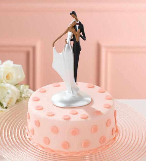 Holding Dancing Wedding Cake Topper African American Polka Dot Btw We Are Casting