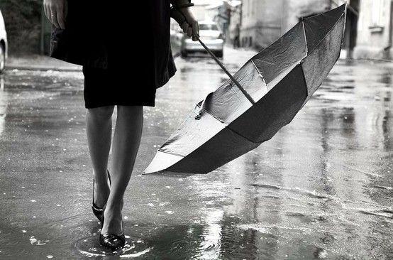 Black and white fashion umbrella