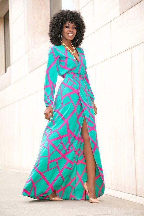 Flowy Wrap Maxi Dress Summer Style Fashion Dresses