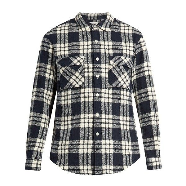Tomorrowland Checked cotton-flannel shirt ($180) ❤ liked on ...