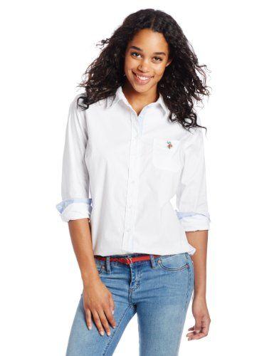 Womens Short Sleeve Fashion Blouse POLO ASSN U.S
