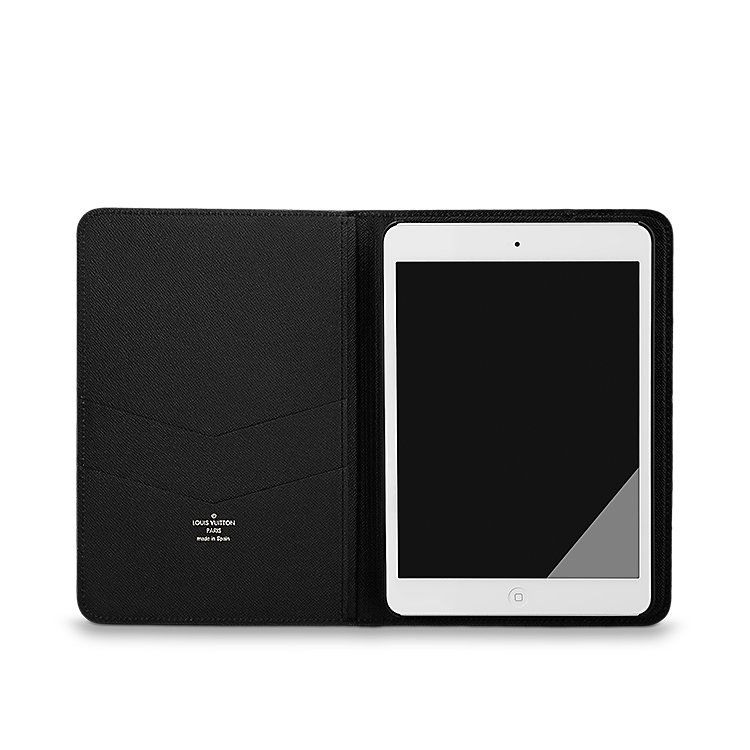 Discover Louis Vuitton Ipad Mini Flapcase This Highly Practical New Flap Case In Damier Graphite Canvas Adds Classic Elegance To Your Ipad Mini Compatible Wi