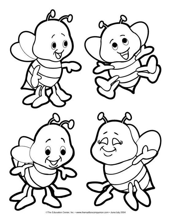 Bees coloring page | Bee coloring pages, Coloring pages ...