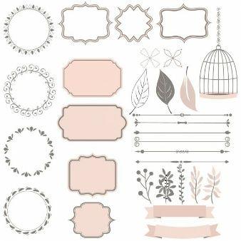 Linda colecci n de elementos decorativos vinilos pinterest etiquetas decoraci n y fotos - Adornos para fotos gratis ...