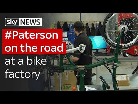 Paterson On The Road At A Bike Factory To Talk About Brexit