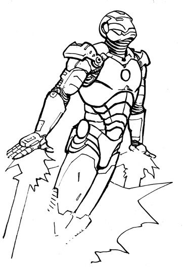 Wonderful Iron Man Coloring Pages For Kids    freecoloring-pages - copy dark knight batman coloring pages
