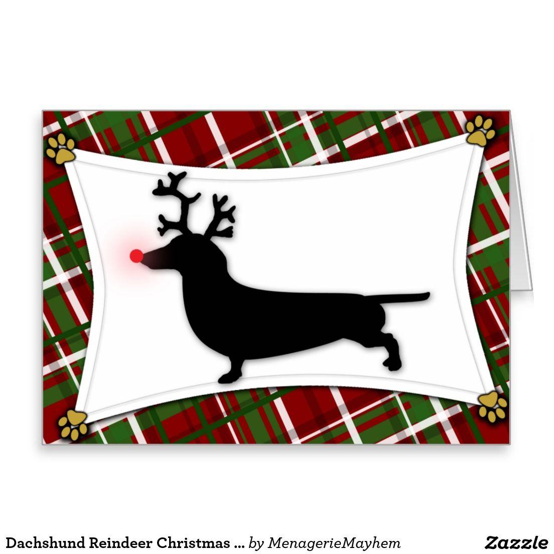 Dachshund reindeer christmas card christmas 2015 pinterest dachshund reindeer christmas card kristyandbryce Image collections