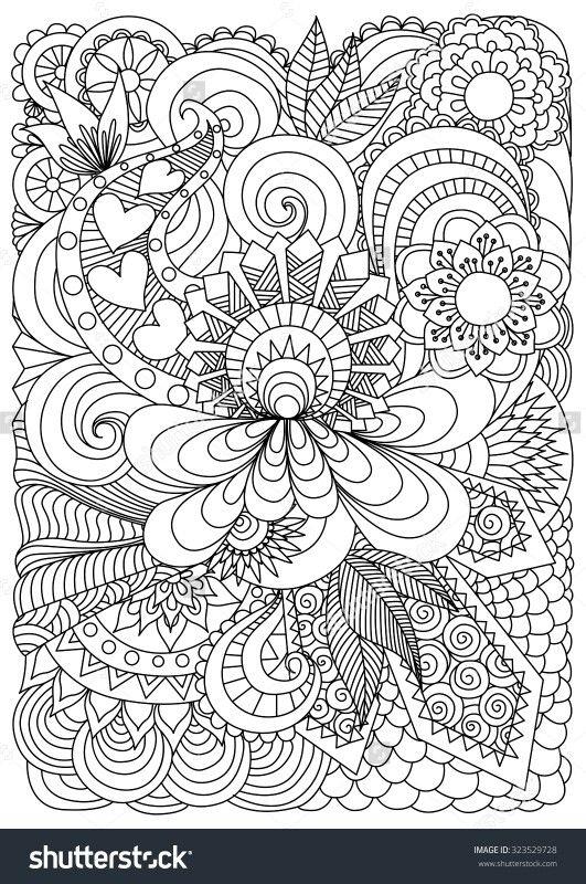 Pin de Danika Colvin en more | Pinterest | Mandalas, Estrés y Colorear