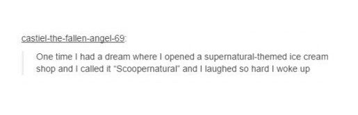 A supernatural themed ice cream shop