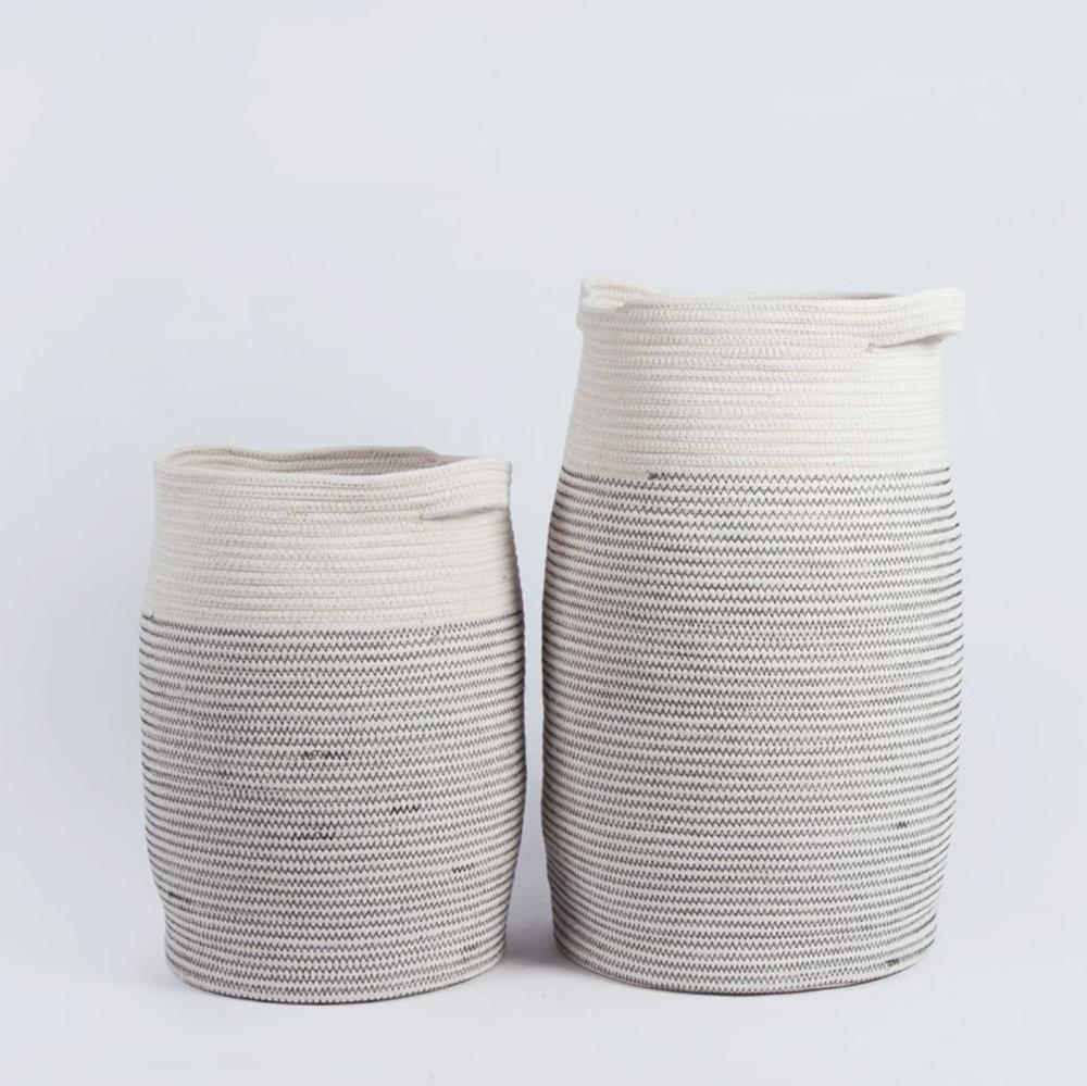 Natural Large Cotton Rope Storage Basket Laundry Basket Towel