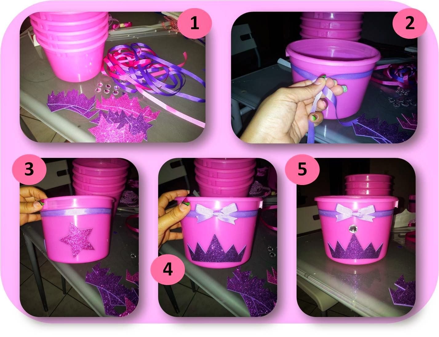 Princess Party Decoration Diy Princess Party Centerpieces How To Create The Buckets They