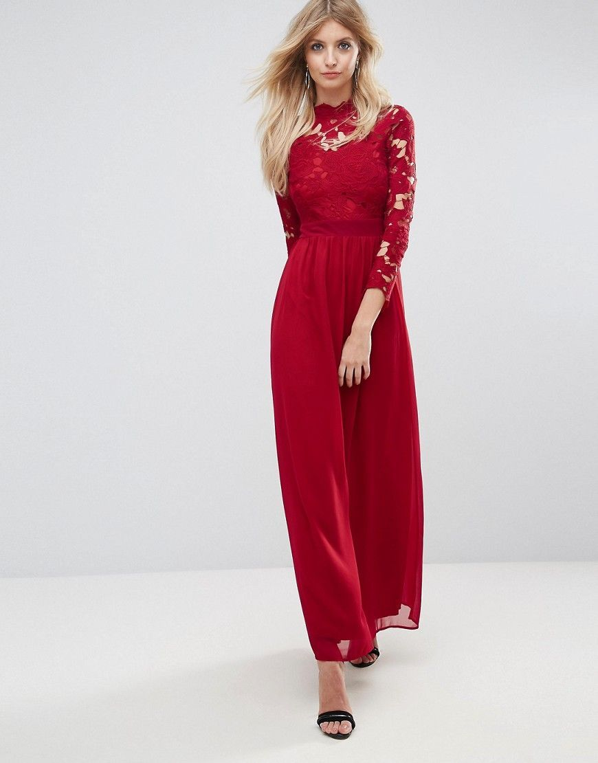 Sale Big Sale Free Shipping Best Club L Womens **High Neck Long Sleeve Maxi Dress by - Discount How Much Pre Order Cheap Online Cheap Outlet Store wxzTwYw