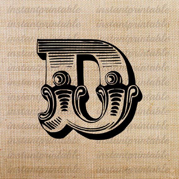 Monogram Initial Letter D Letter Clip Art By Instantprintable 1 80 Western Clip Art Alphabet Letters Design Vintage Lettering