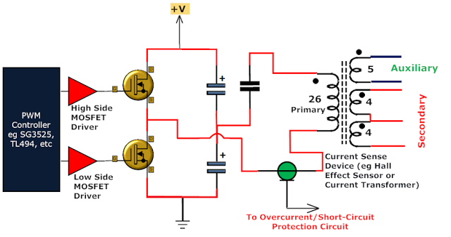 transformer at work in a circuit (block diagram) | knowledge,