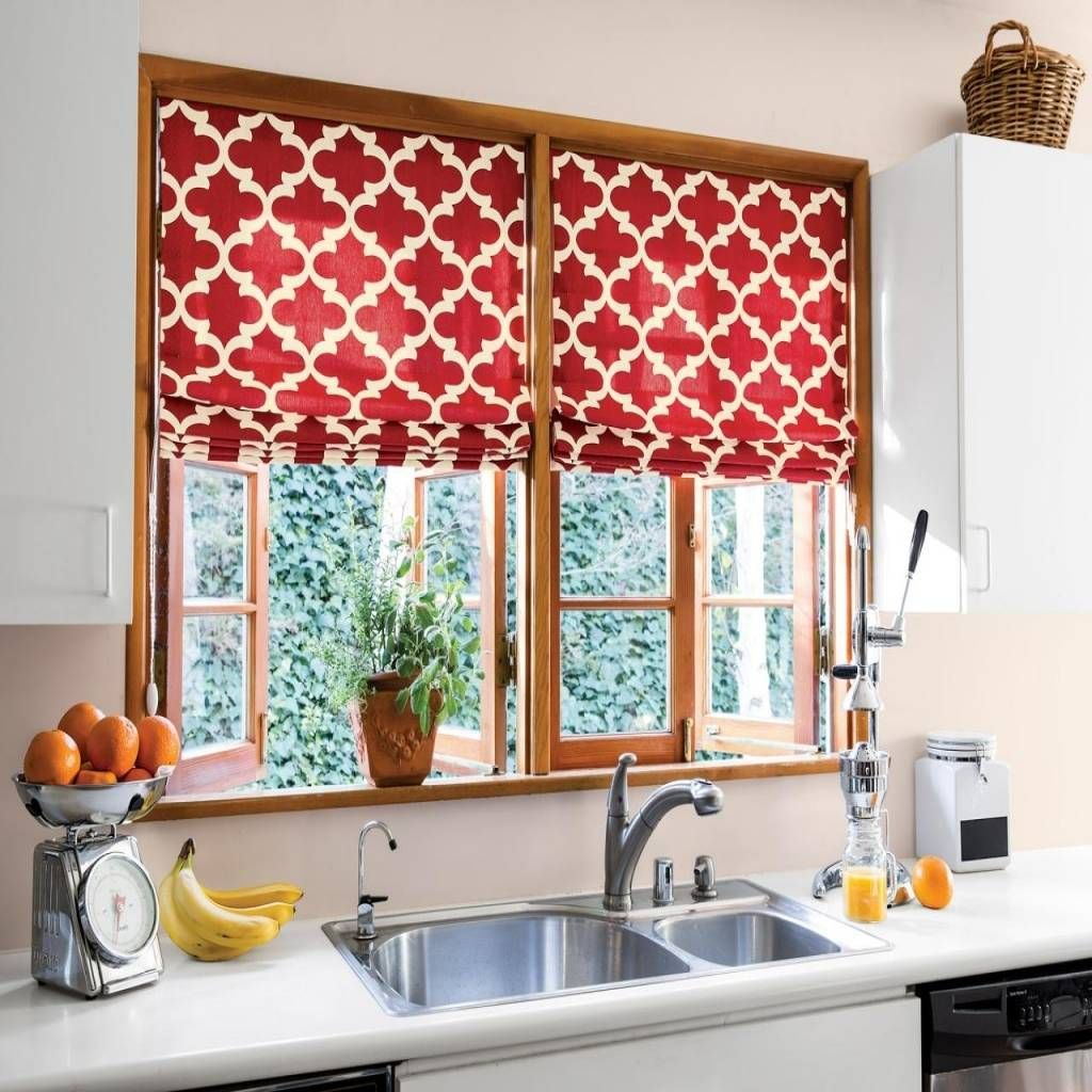 Nice Kitchen Curtains For Modern Kitchen Design Ideas Red Kitchen