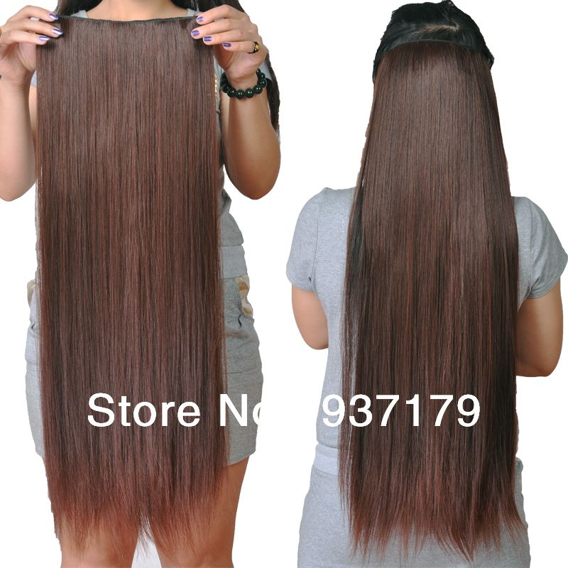 Q Style Free Shipping Hot Thicken Hair Pieces Straight Kanekalon
