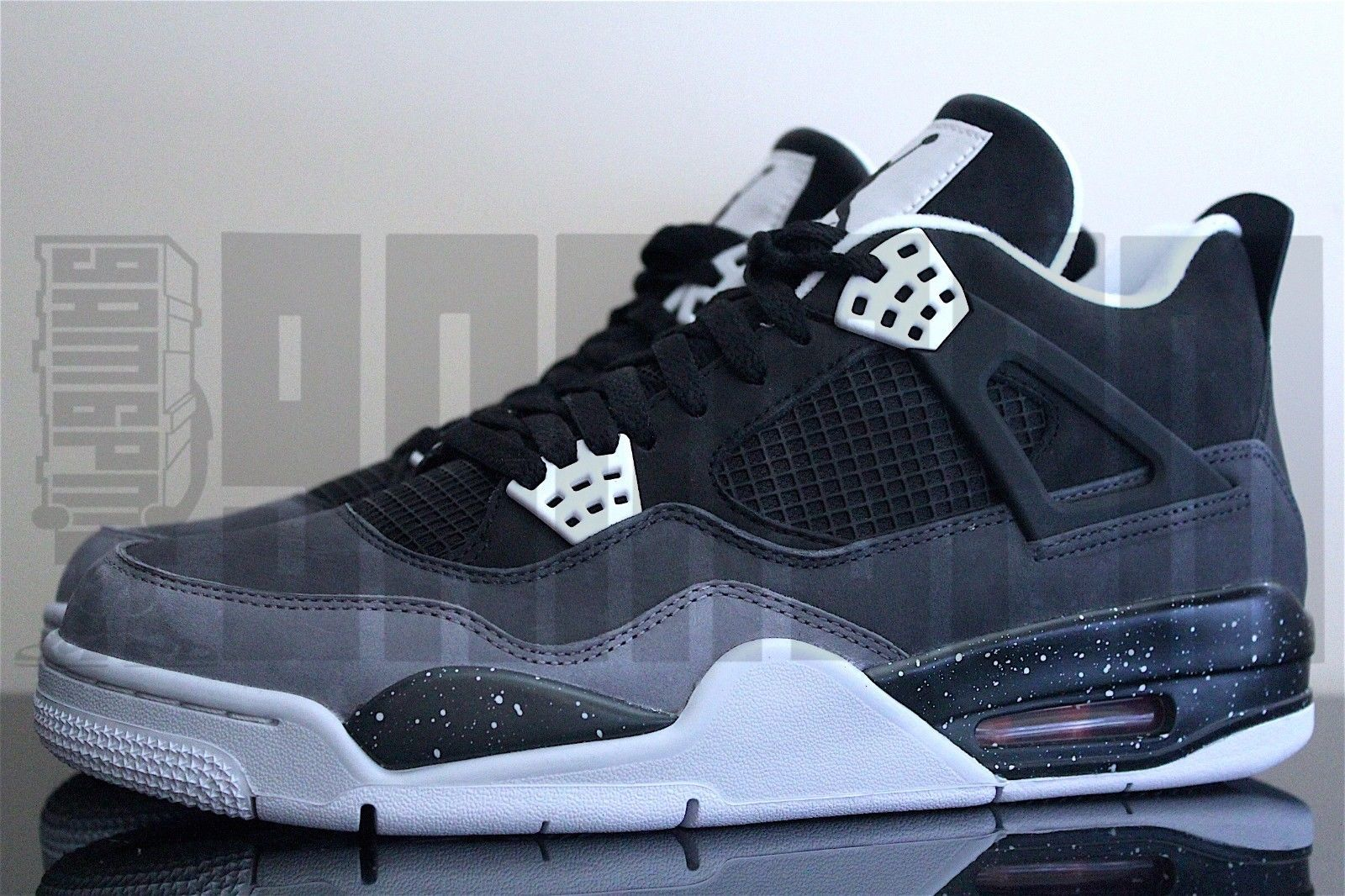 06563a802a50 2013 Nike AIR JORDAN 4 RETRO 7 8 9 10 11 12 FEAR PACK BLACK GREY oreo aj4  oregon