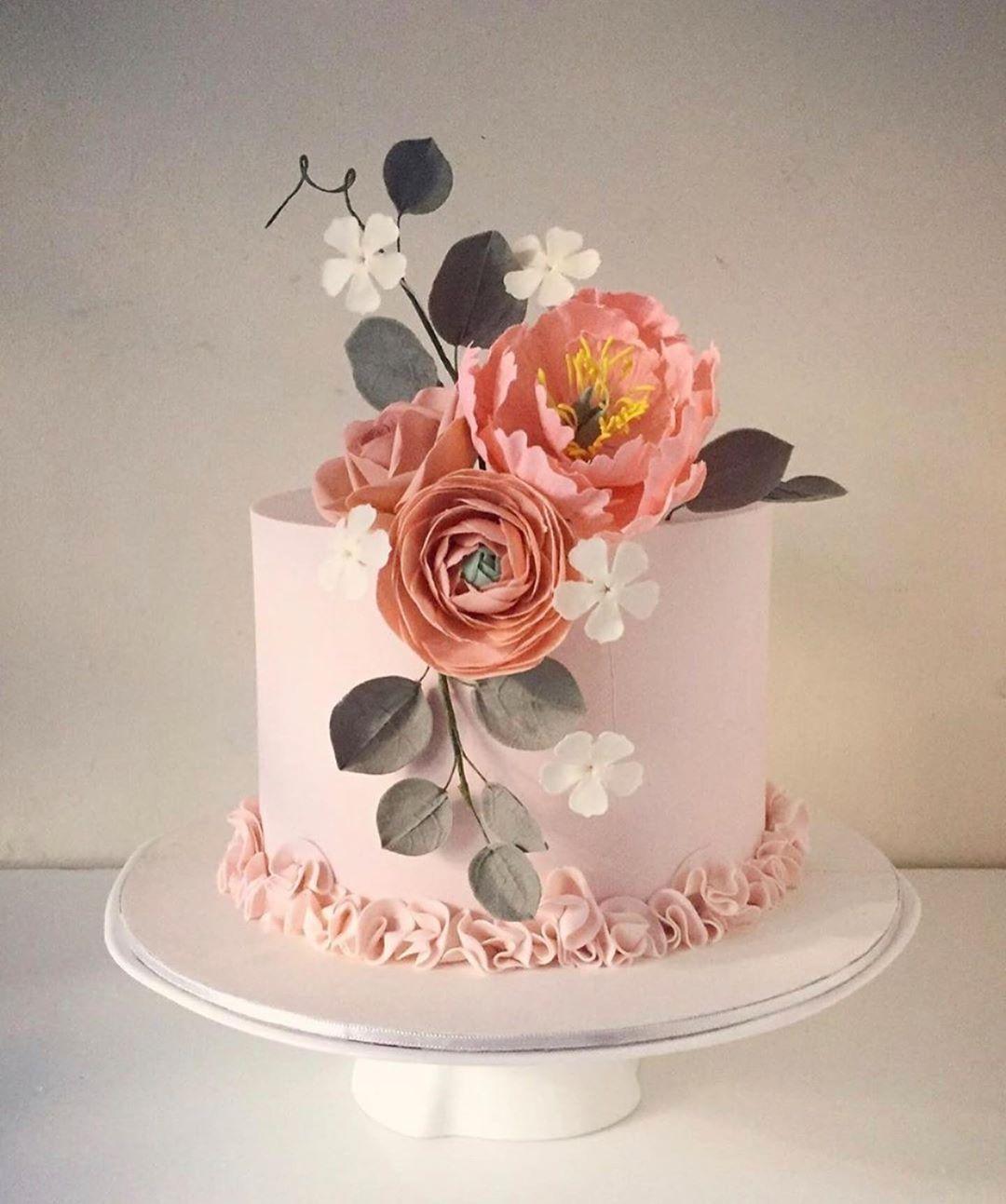 "❤️ on Instagram: ""🎂💝 Follow: @themabaker 🍰 🍰 🍰 #cake #cakes #cakedecorating #cakeideas #cakeart #cooking #ricepaper #bestcake #cakeintrend #mastic…"""