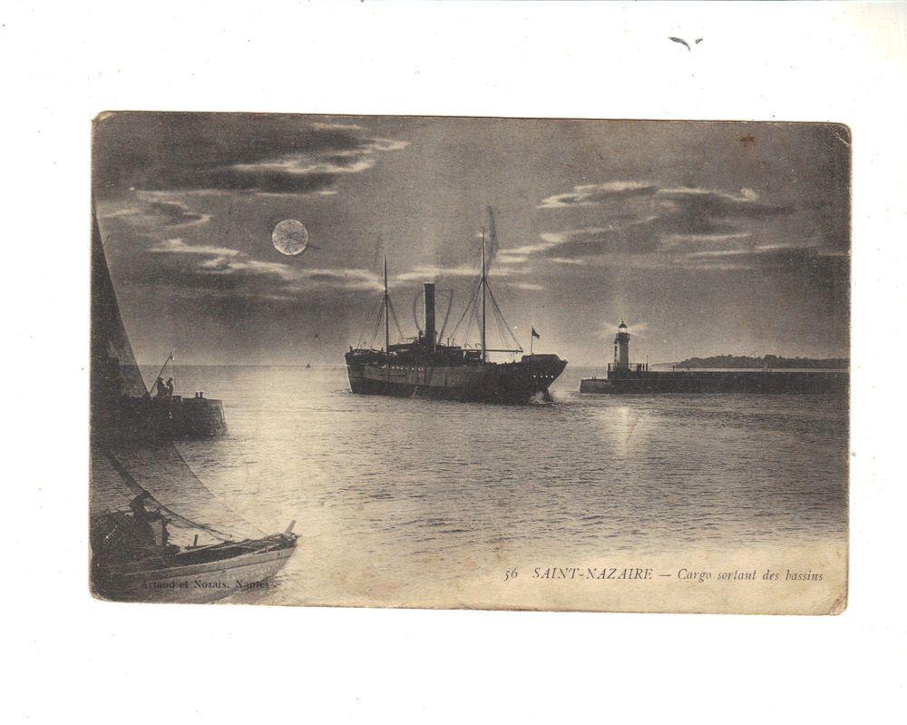 CPA - SAINT NAZAIRE (44) - CARGO SORTANT DES BASSINS - 1915