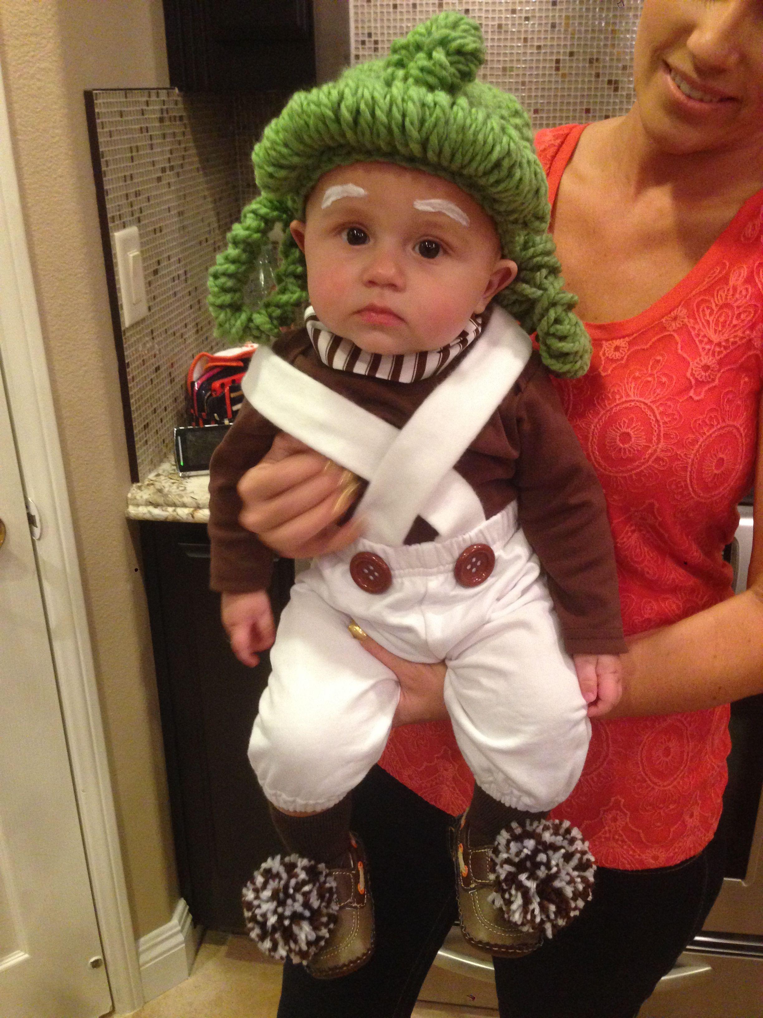 Homemade baby Oompa Loompa costume. Baby's 1st Halloween ...