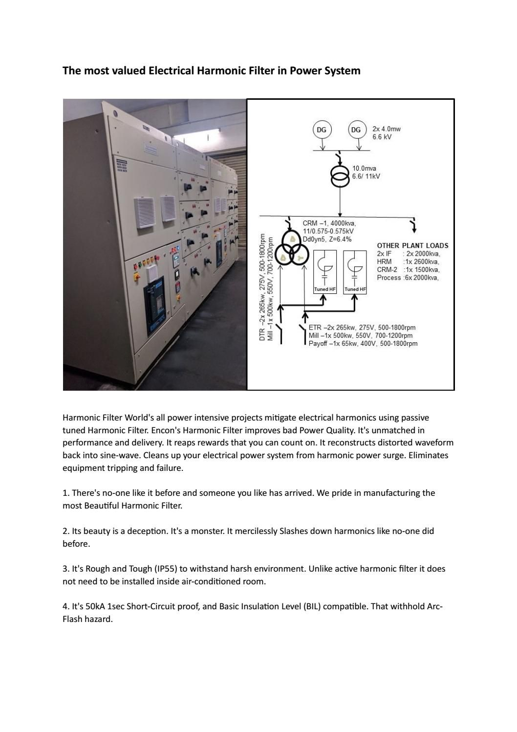 Harmonic Filter Site Name Filters Electronic Cards System