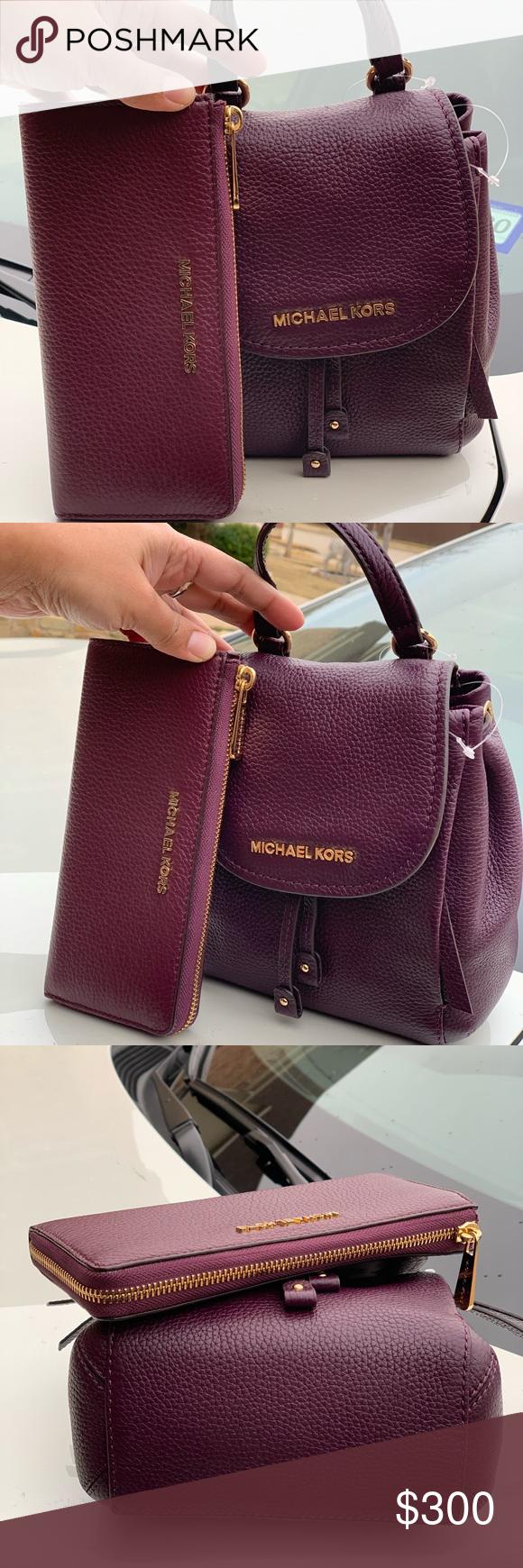 Michael Kors Riley backpack and wallet NWT Michael Kors