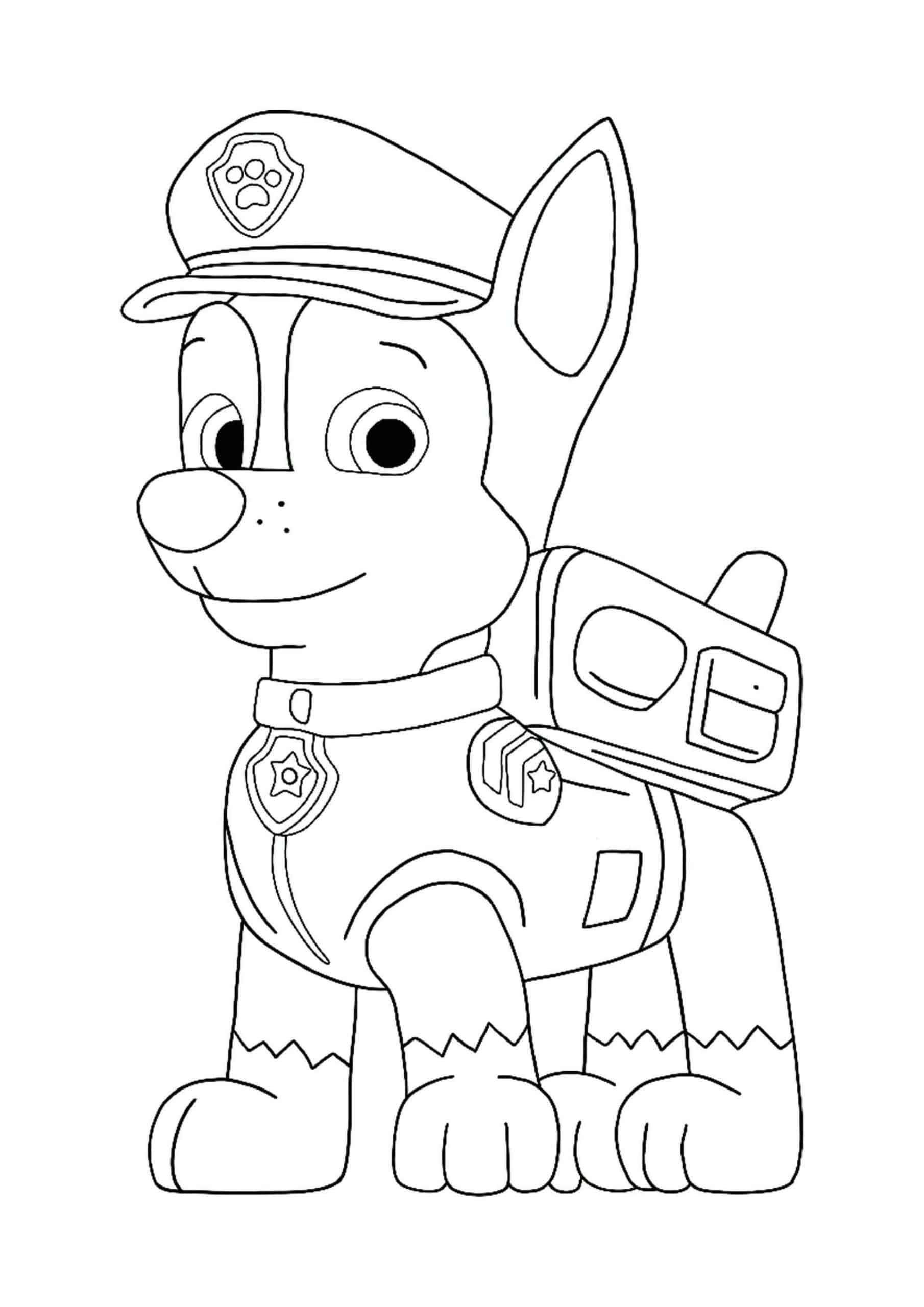 Paw Patrol Chase coloring page in 2020 Paw patrol