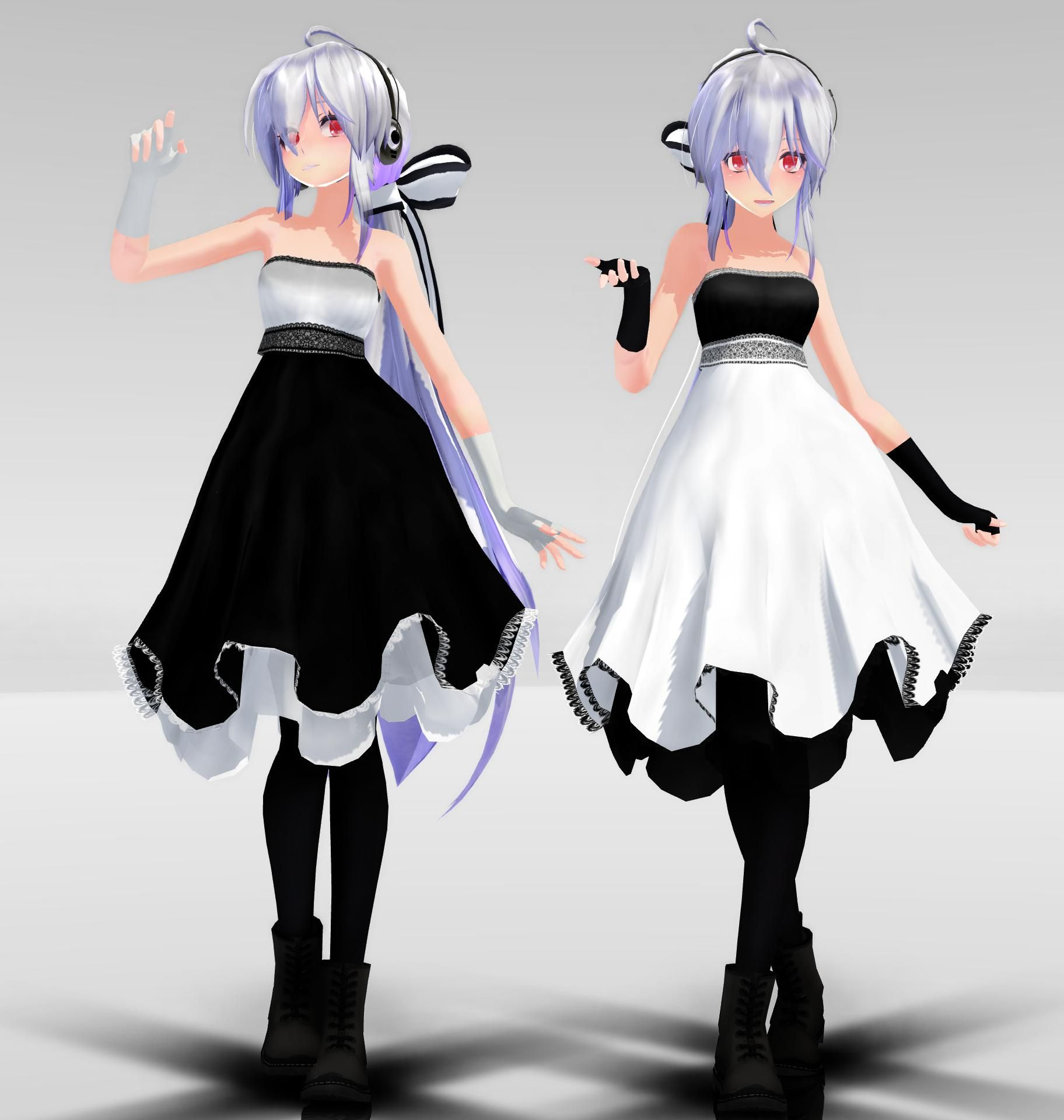 TDA Haku Dress MMD download by Reon046 deviantart com on