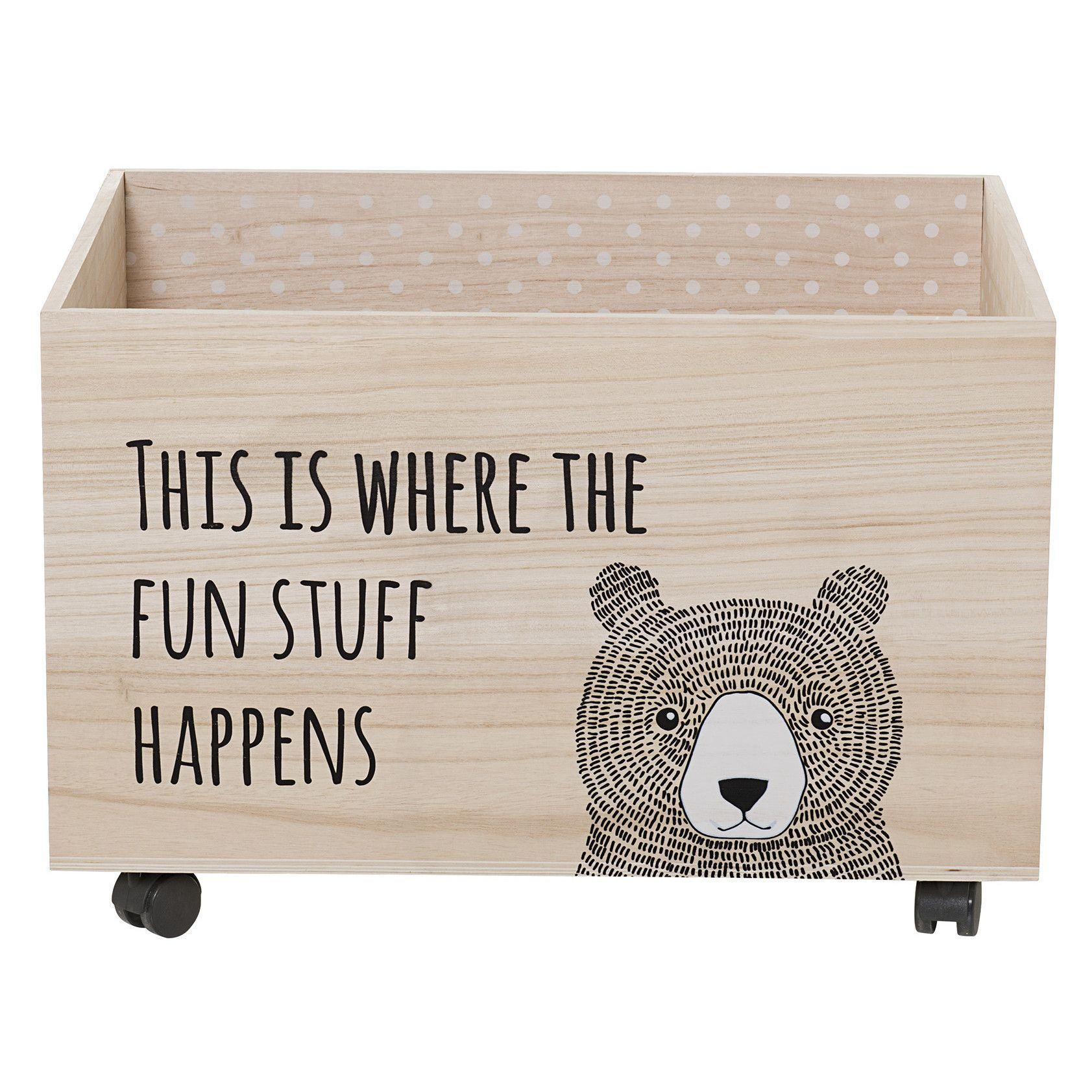 Bloomingville Toy Box With Wheels Kids Toy Boxes Toy Rooms Painted Toy Boxes