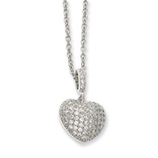 Sterling silver micro pave set cz heart pendant necklace available sterling silver micro pave set cz heart pendant necklace available exclusively at gemologica valentines aloadofball Images