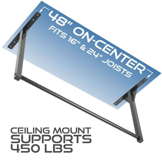 Ultimate Body Press Wall Or Ceiling Mounted Pull Up Bar