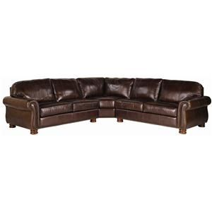 Leather Choices Benjamin Leather Select 3 Piece Sectional By Thomasville At Johnny Janosik Thomasville Furniture Thomasville American Home Furniture