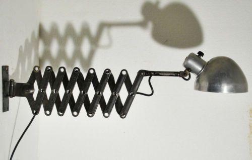 Scherenlampe Xl Industrie Leuchte Alu Art Deco Bauhaus 20er Midgard Idell Bauhaus Art Deco Lampe