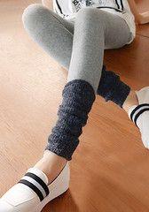 Black Knit Grey Leggings