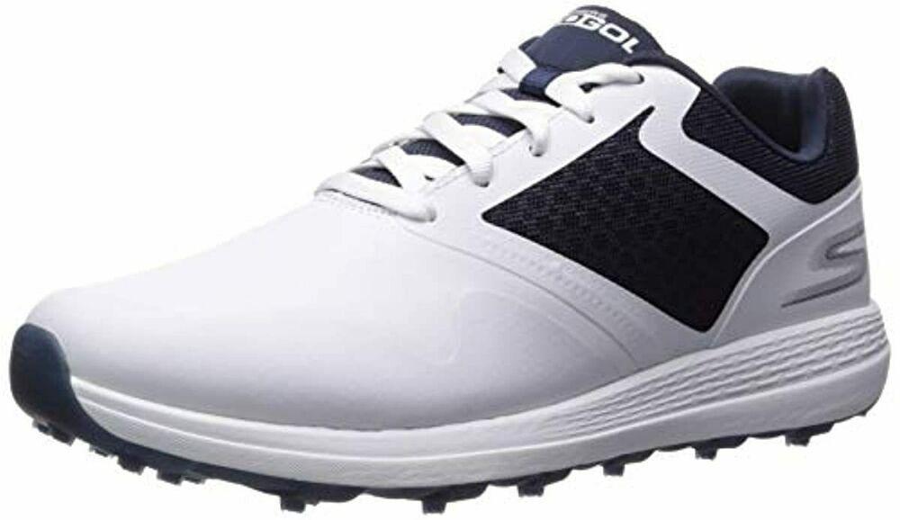 Skechers Men's Max Golf Shoe White Navy
