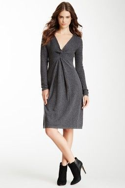 A-Line Wool Blend Dress