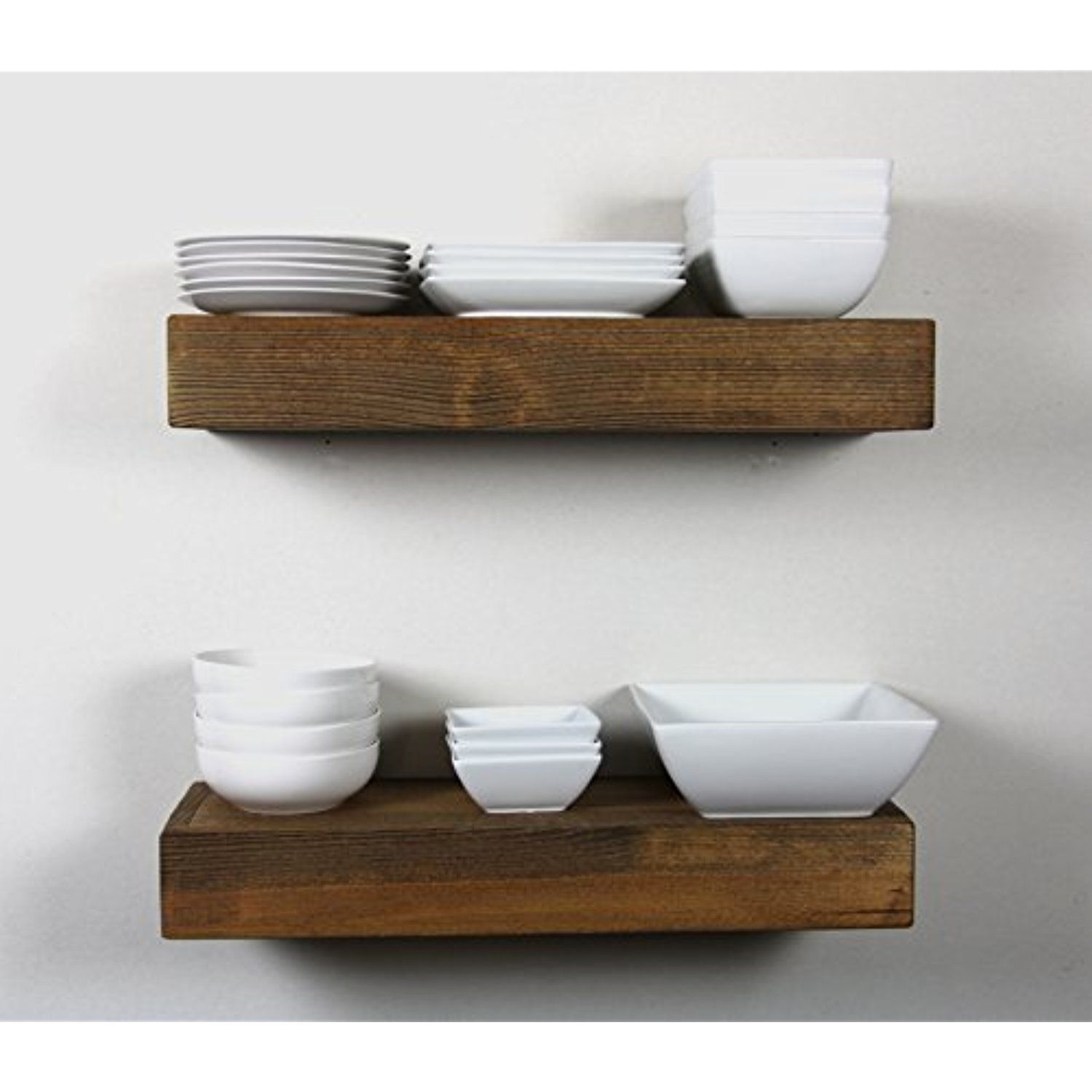 Solid Rustics Handmade Rustic Modern Wooden Floating Wall Shelves Thick Edge Ledge She Wood Wall Shelf Walnut Floating Shelves Floating Shelves Diy