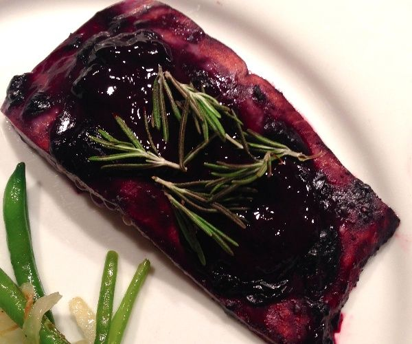 Sweet and tangy oven baked salmon