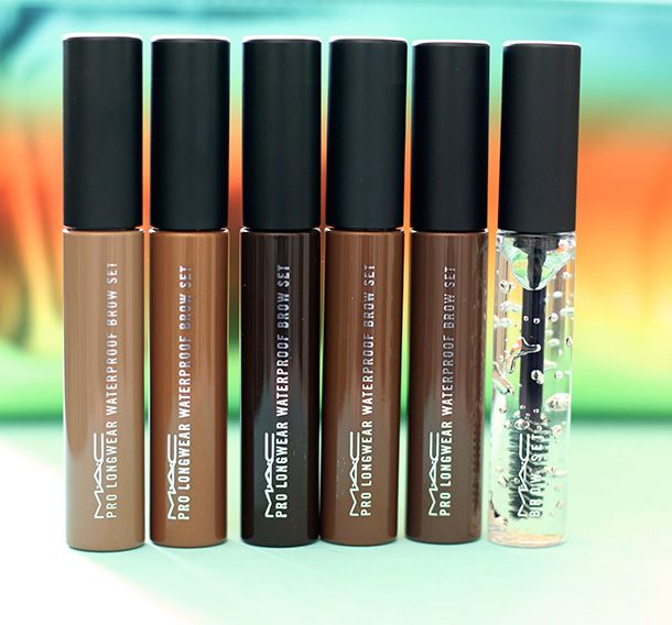 Mac Wash And Dry Pro Longwear Waterproof Brow Sets From The Left