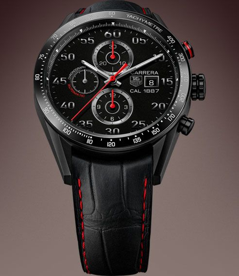 tag heuer carrera calibre 1887 racing chronograph 43mm. Black Bedroom Furniture Sets. Home Design Ideas