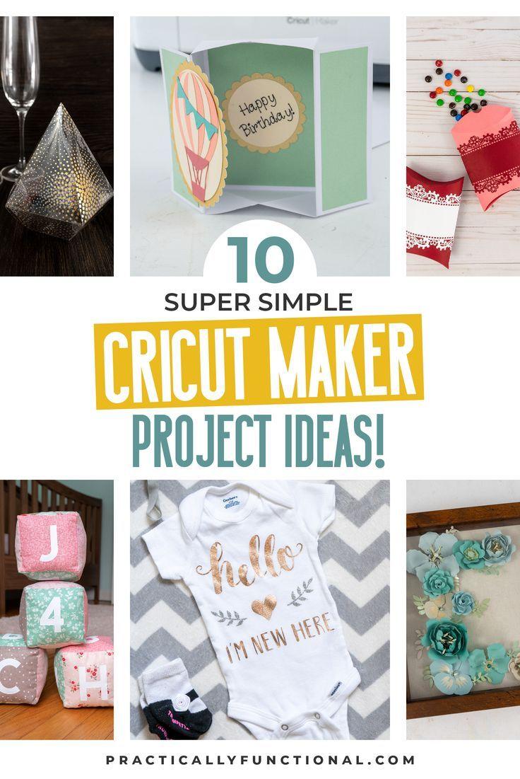 10 Super Simple Cricut Maker Projects