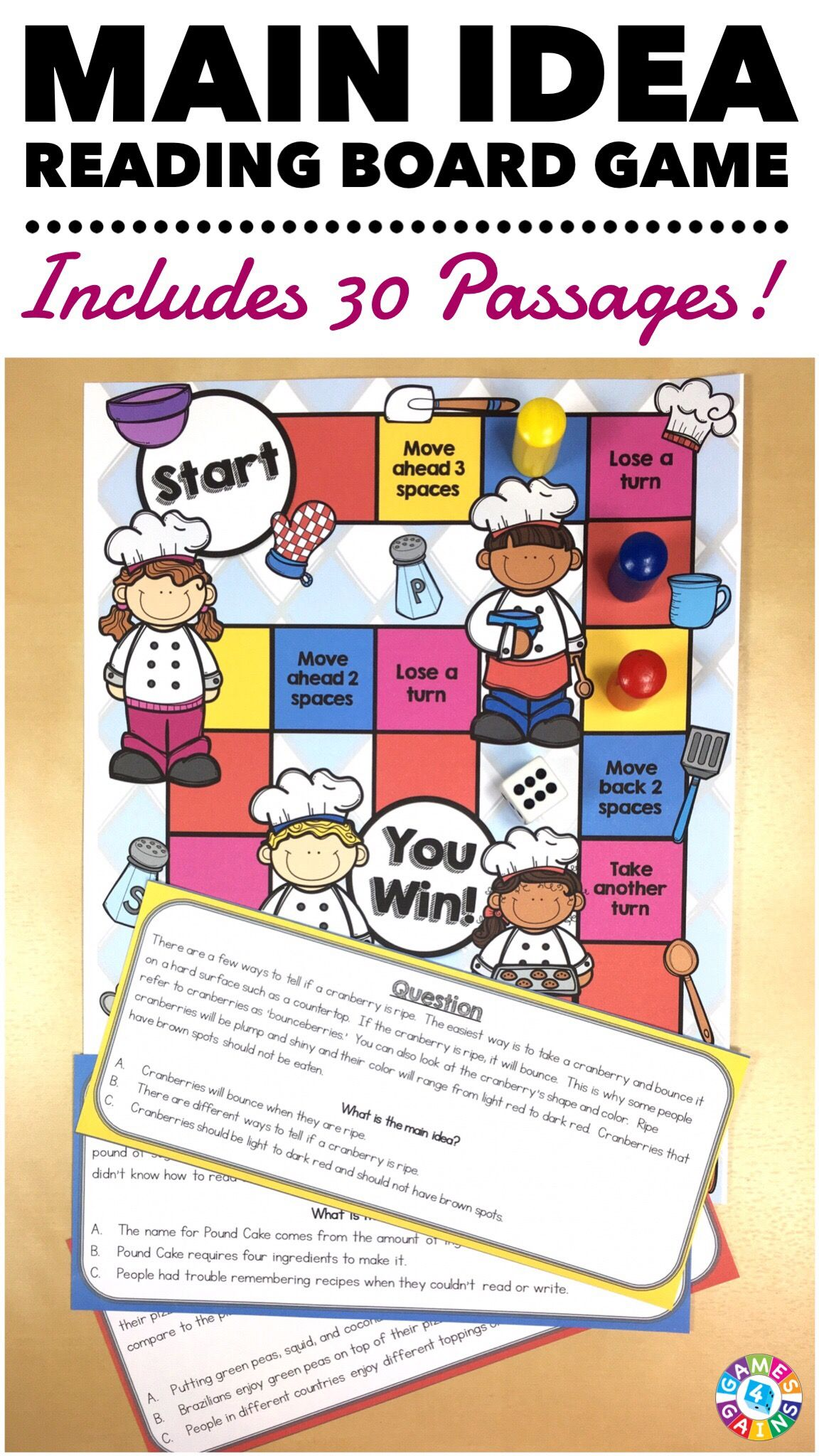 Main Idea And Details Task Cards Reading Comprehension