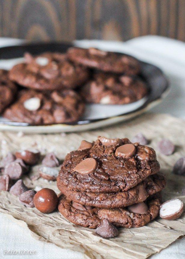Chocolate Malt Ball Cookies - Bakerita