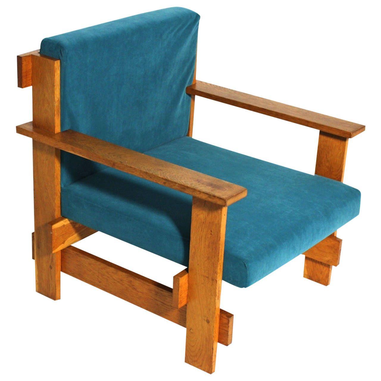 Geometric Bauhaus Lounge Chair in the Style of Josef